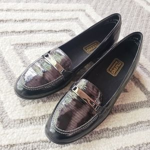 Munro snake leather loafers